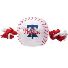 Philadelphia Phillies Nylon Plush Baseball Rope Dog Toy