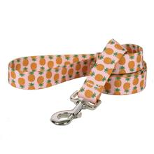 Pineapples Dog Leash by Yellow Dog - Pink