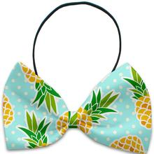 Pineapples and Polka Dots Dog Bow Tie