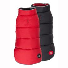Red & Black Skull Reversible Ski Dog Vest