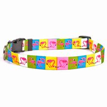 Pink Flamingos Dog Collar by Yellow Dog
