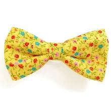 Yellow Flowers Dog Bow Tie from Daisy and Lucy
