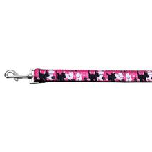 Pink Plaid Scottie Pups Nylon Dog Leash by Mirage