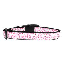 Pink Ribbon Nylon Dog Collar