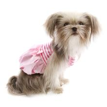 Pink Satin and Striped Tank Dog Dress by Parisian Pet