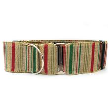 Holiday Wide Martingale Dog Collar by Diva Dog - Northern Lights