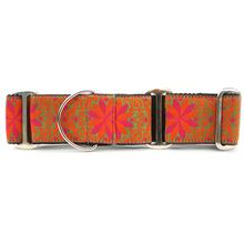 Pinwheel Wide Martingale Dog Collar by Diva Dog - Mexicali Sunset