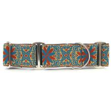Pinwheel Wide Martingale Dog Collar by Diva Dog - Gypsy Traveller