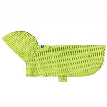 Pitter Patter Packable Dog Rain Poncho - Lime Halftone