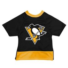 Pittsburgh Penguins Mesh Dog Jersey - Black with Yellow Trim