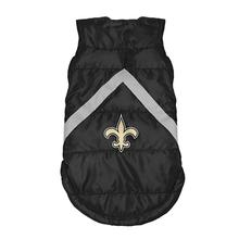 New Orleans Saints Sleeveless Dog Puffer Vest