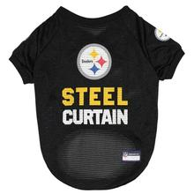 Pittsburgh Steelers Slogan Dog Jersey - Steel Curtain