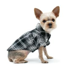 Plaid Button Down Dog Shirt by Dogo - Black