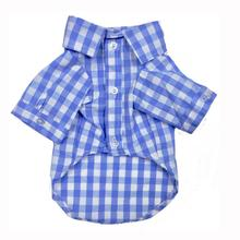 Plaid Button Down Dog Shirt by Fab Dog - Blue