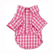 fabdog® Plaid Button Down Dog Shirt - Pink
