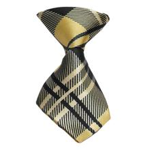 Plaid Dog Neck Tie - Cream