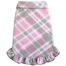 Plaid Dog Pullover Dress by I See Spot - Pink and Gray