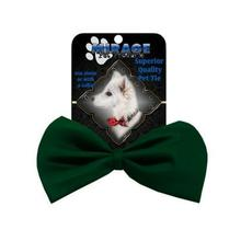 Plain Dog Bow Tie - Dark Green