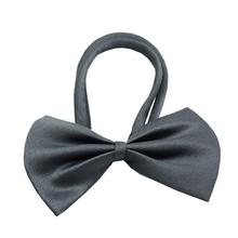Plain Dog Bow Tie - Gray