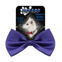Plain Dog Bow Tie - Purple