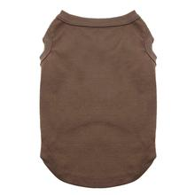 Plain Dog and Cat Shirt - Brown