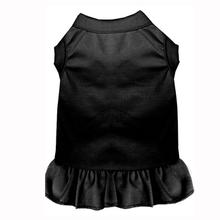 Plain Dog and Cat Dress - Black