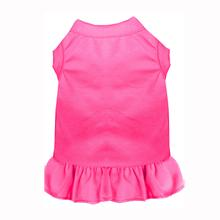 Plain Dog Dress - Bright Pink