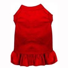 Plain Dog Dress - Red
