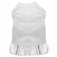 Plain Dog and Cat Dress - White