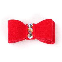Susan Lanci Dog Hair Bow 2-Piece Set - Red