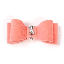 Susan Lanci Dog Hair Bow 2-Piece Set - Peaches and Cream