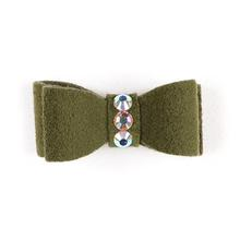Susan Lanci Dog Hair Bow 2-Piece Set - Olive