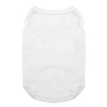 Plain Dog and Cat Shirt - White