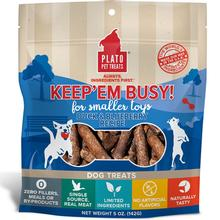 Plato Keep 'Em Busy Duck & Blueberry Toy Stuffers Dog Treats