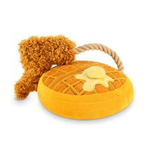 P.L.A.Y. Barking Brunch Dog Toy - Chicken & Waffles