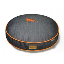 P.L.A.Y. Denim Round Dog Bed - Orange
