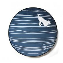 P.L.A.Y. Dog on Wire Round Dog Bed - Blue