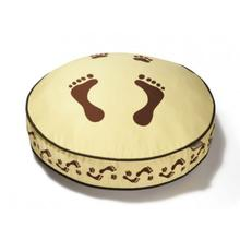 P.L.A.Y. Footprints Round Dog Bed - Khaki