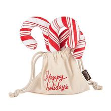 P.L.A.Y. Holiday Classic Dog Toy - Cheerful Candy Canes