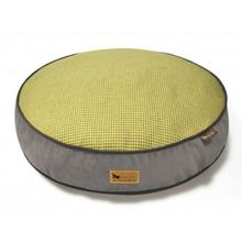 P.L.A.Y. Houndstooth Round Dog Bed - Buttercup Yellow