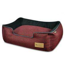 P.L.A.Y. Houndstooth Lounge Dog Bed - Cayenne Red