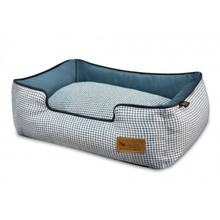 P.L.A.Y. Houndstooth Lounge Dog Bed - Light Blue