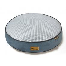 P.L.A.Y. Houndstooth Round Dog Bed - Light Blue