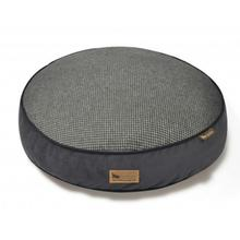 P.L.A.Y. Houndstooth Round Dog Bed - Shadow Gray