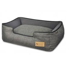 P.L.A.Y. Houndstooth Lounge Dog Bed - Shadow Gray