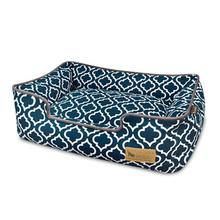 P.L.A.Y. Moroccan Lounge Dog Bed - Navy Blue