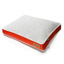 P.L.A.Y. Serengeti Rectangular Dog Bed - Splashed White and Lust