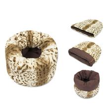 P.L.A.Y. Snuggle Dog Bed - Leopard Brown