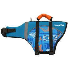 Playa Pup Dog Lifejacket - Tribal Shark Night Blue