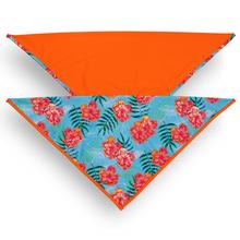 Playa Pup UPF50+ Reversible Dog Bandana - Tropical Floral Blue/Tagate